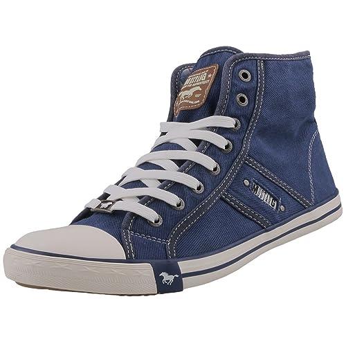 Mustang - 4058-504-841, Zapatillas Altas Hombre, Azul (Jeansblau 841), 47 EU: Amazon.es: Zapatos y complementos