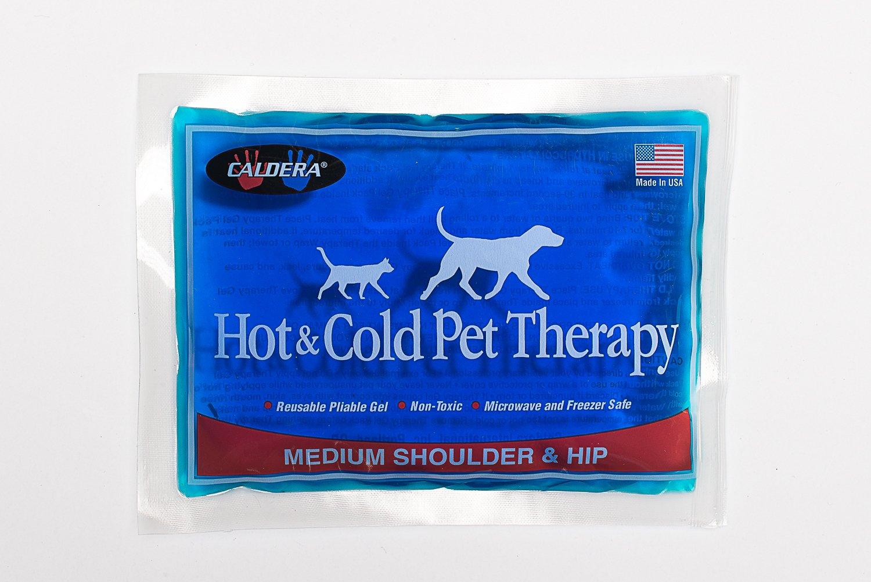 Caldera Pet Therapy Hip Wrap with Gel, Medium, Black