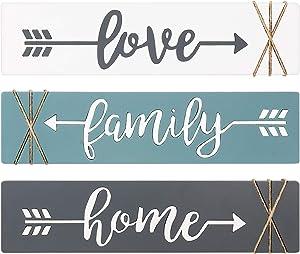 Dahey Rustic Wood Arrow Sign Wall Decor Home Famlily Love Sign 13