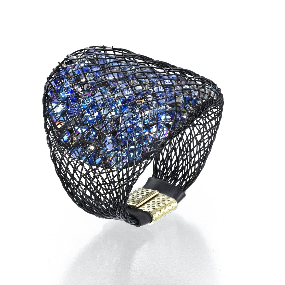 SEA Smadar Designed Blue Swarovski Crystal Sparks Ring by SEA Smadar (Image #1)