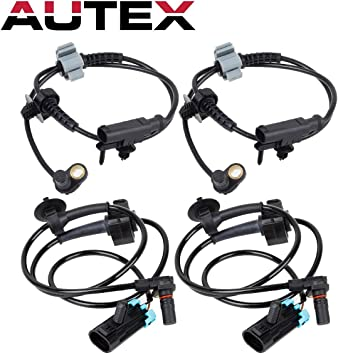 Pack of 4 Front+Rear For 07-13 Chevy Tahoe Avalanche Suburban 1500 ABS Sensor