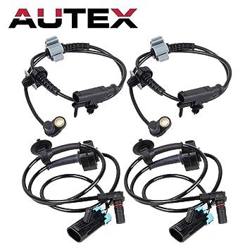 Amazon Com Autex 4pcs Abs Wheel Speed Sensor Front Rear Als1464