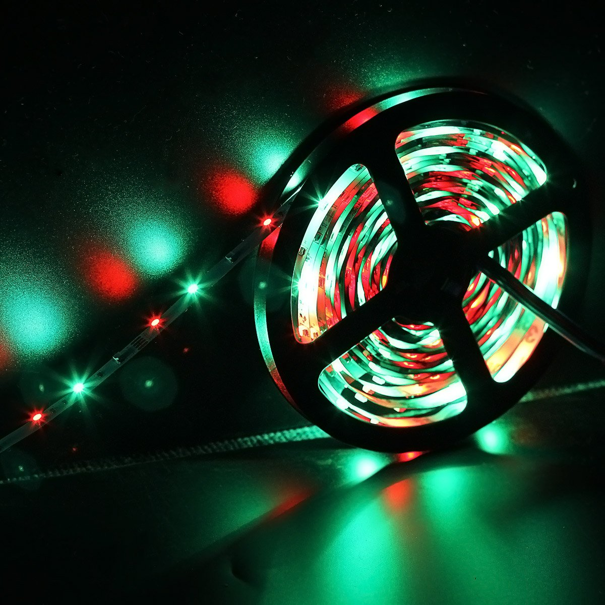 SUPERNIGHT 5M/16.4 Ft SMD 3528 RGB 300 LED Color Changing Kit with Flexible Strip Light+44 Key IR Remote Control+ Power Supply by SUPERNIGHT (Image #3)