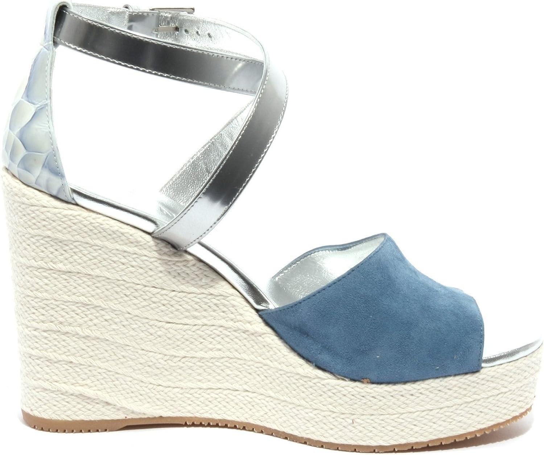 Hogan B1375 Sandalo Donna Zeppa Blu/Argento Shoe Sandal Woman ...