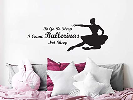 on sale 5ac97 051ad Ballerina Wall Decals Quotes Ballet Vinyl Sticker Decal ...