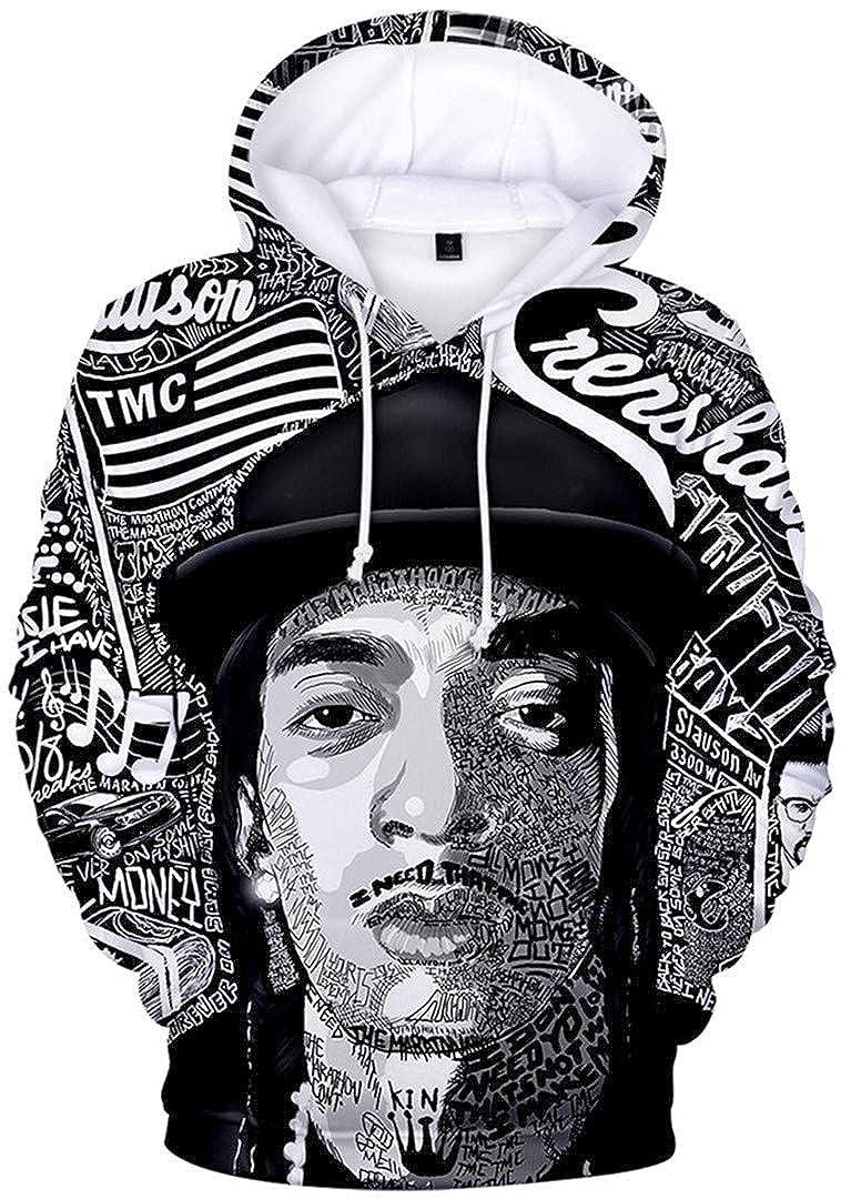 Silver Basic Boys Fashion Hoodie and Sweatshirts Nipsey Hussle 3D Printed Sport Hoodie