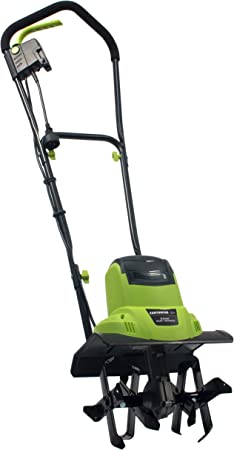 Amazon Com Earthwise Tc70065 6 5 Amp 11 Inch Corded Electric Tiller Cultivator Green Garden Outdoor