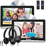 "NAVISKAUTO Upgraded 10.1"" Dual Car DVD Players with 2 Headphones Mounting Bracket Support AV Out & in Last Memory Region Free(2 Same Headrest DVD Players)"