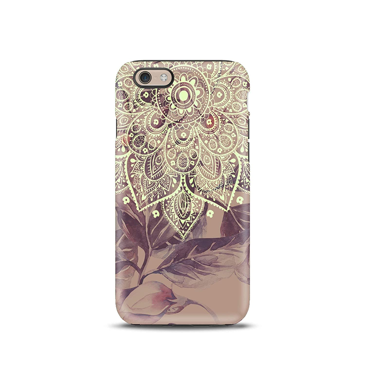 Mandala Floral Boho cover case TPU Tough for iPhone 5, 5s, 6, 6s, 7, 7 plus, 8, 8 plus, X, XS, for Galaxy S6, S7, S8