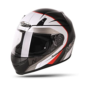 Nitro N2000 Pioneer casco de moto, Black White Silver