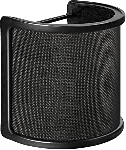 Pop Filter,Aokeo [Upgraded Three Layers] Metal Mesh & Foam & Etamine Layer Microphone Windscreen Cover Handheld Mic Shield Mask,Microphone Accessories for Vocal Recording,Youtube videos,Streaming