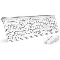Combo de teclado e mouse sem fio, teclado compacto e compacto e teclado 2400 DPI Streamline óptico para PC, notebook…