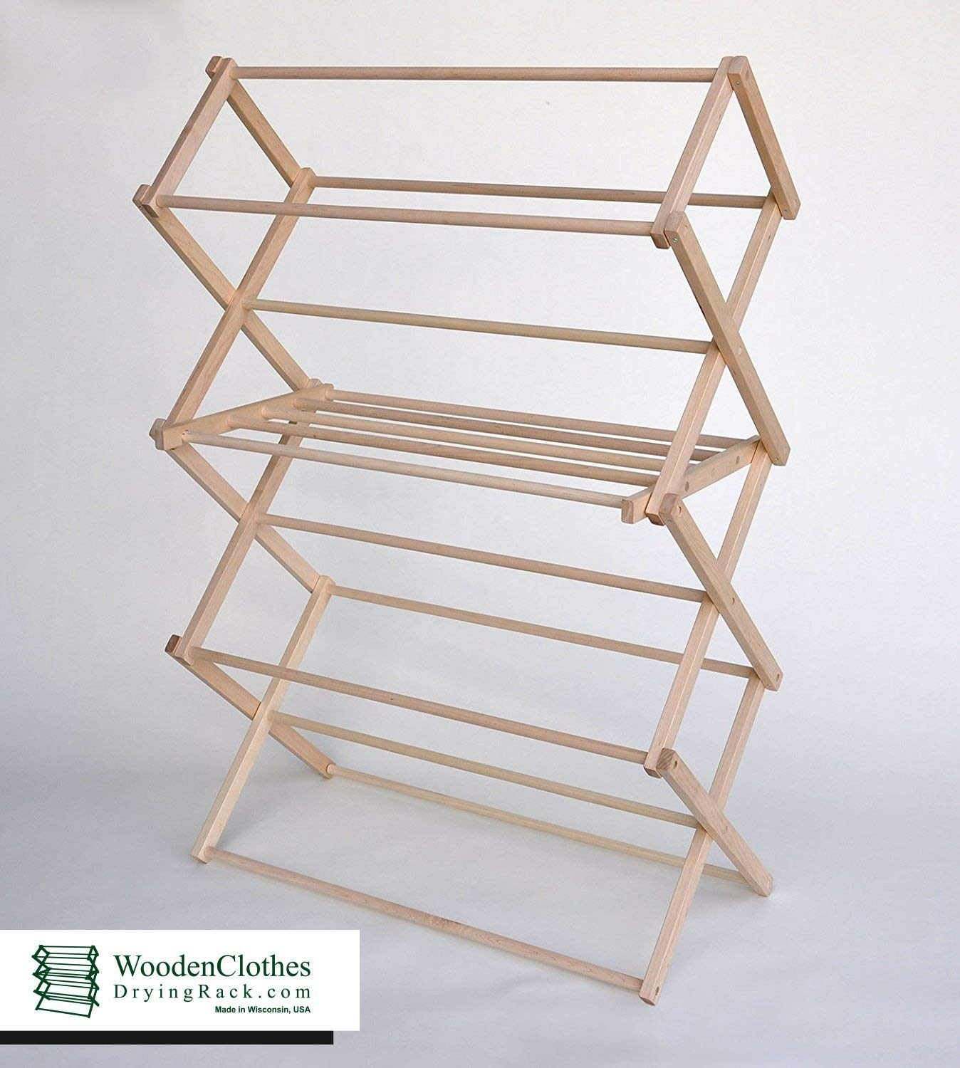 Amazon Wooden Clothes Drying Rack by Benson Wood Products