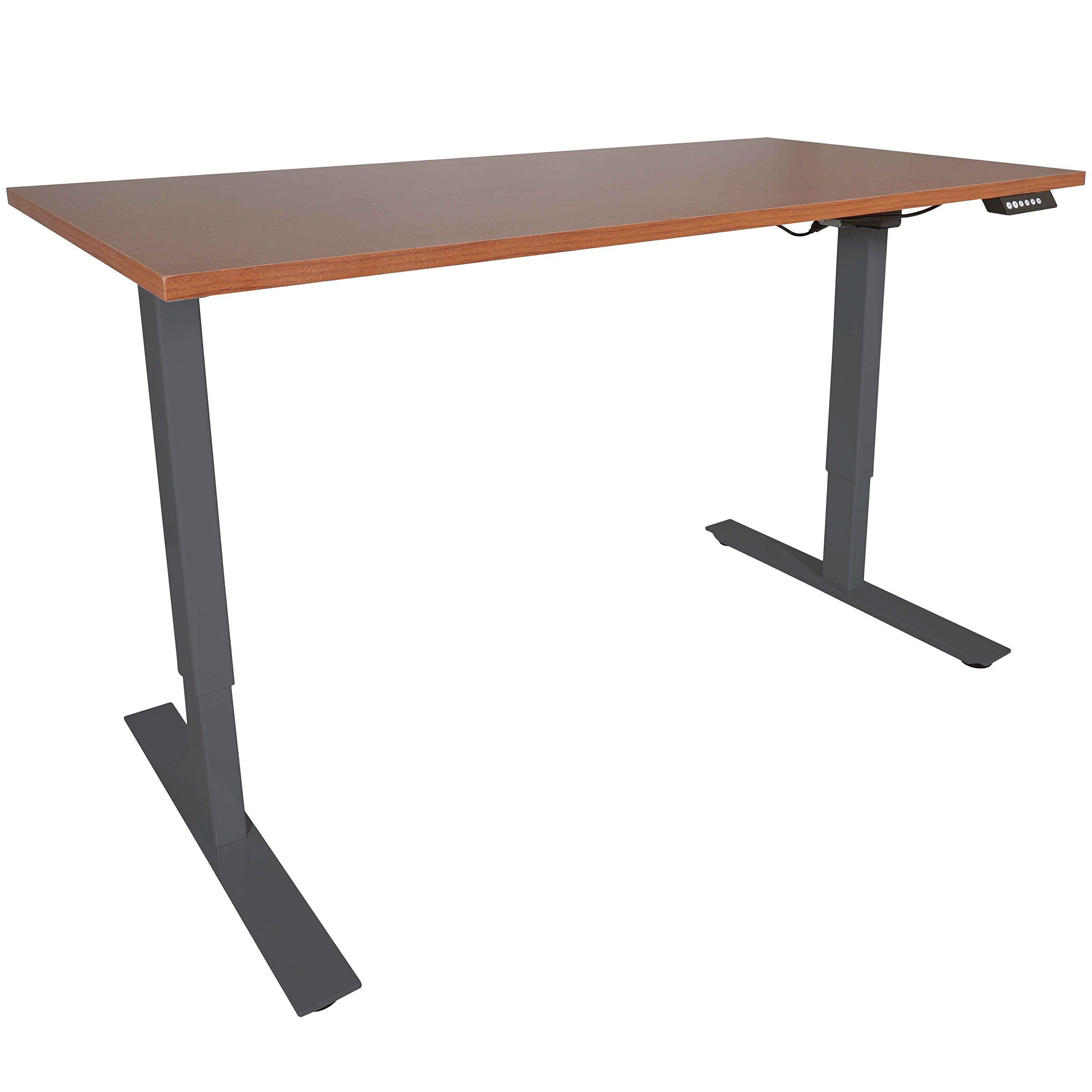 TITAN FITNESS A2 Single Motor Sit/Stand Desk w/Wood 30''x60'' Top Conversion