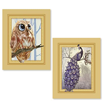 DIY 5D Diamond Painting by Number Kit Two Owls Crystal Rhinestone Embroidery Cross Stitch Arts Craft Supply Canvas Wall Decor