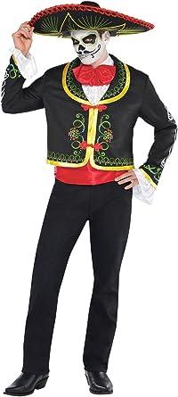 MARIACHIS Squelette Costume Débardeur Femme le Jour des Morts Halloween Tee