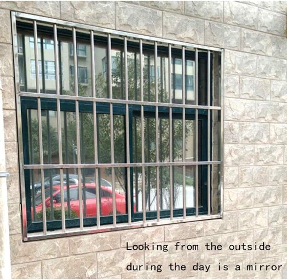Lumi/ère argent/ée. N\A QSTF Film miroir autocollant r/éfl/échissant /à la lumi/ère argent/ée pour fen/être Effet miroir 200x120cm