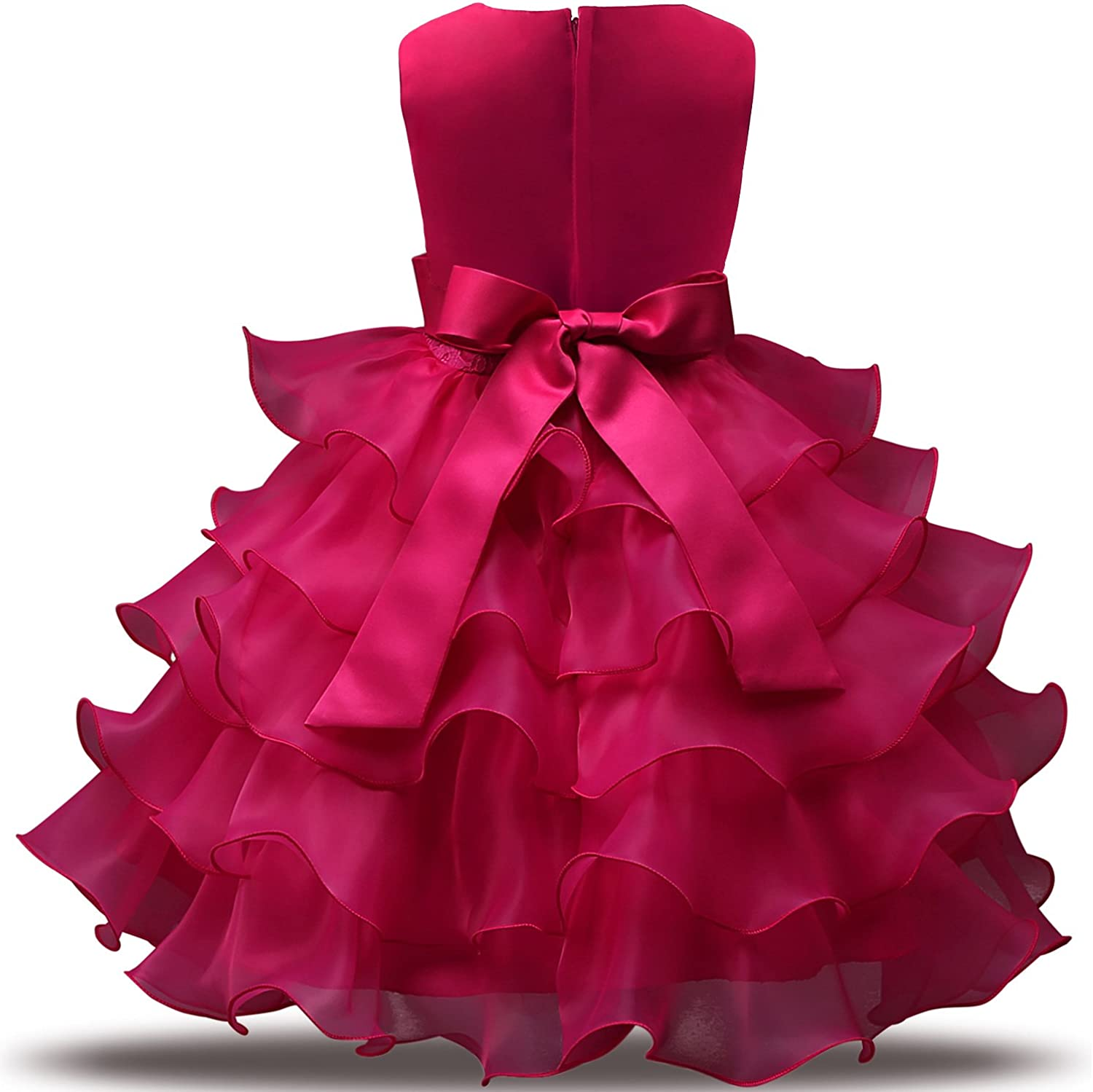NNJXD Girls Party Dress Kids Floral Dresses for Summer Pageant