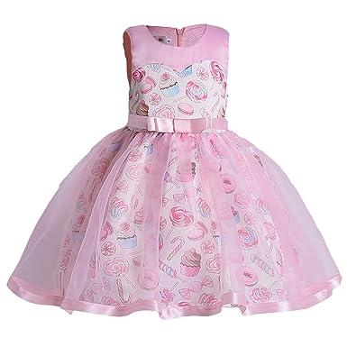 Amazoncom Danna Belle Little Girls Lace Crochetprint Dress For