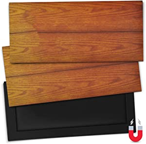 """5.5"""" x 12 """" Magnetic Vent Covers for Ceiling, Wall & Floor (3-Pack) Lightweight Magnet for Gripping Ceiling Air Registers - for RV, Home HVAC, AC and Furnace Vents (3 Pack, Woodgrain)"""