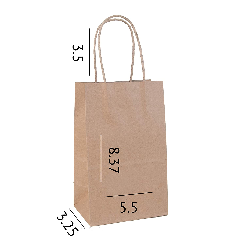 Amazon.com: Increíble empaque: bolsas de papel kraft de 5.5 ...