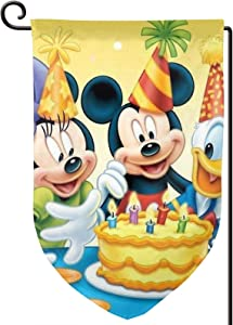 Criss Mickey-Mouse-16 Home Unique Decoration Outdoor 2-Sided Courtyard Sign Garden Flag One Size