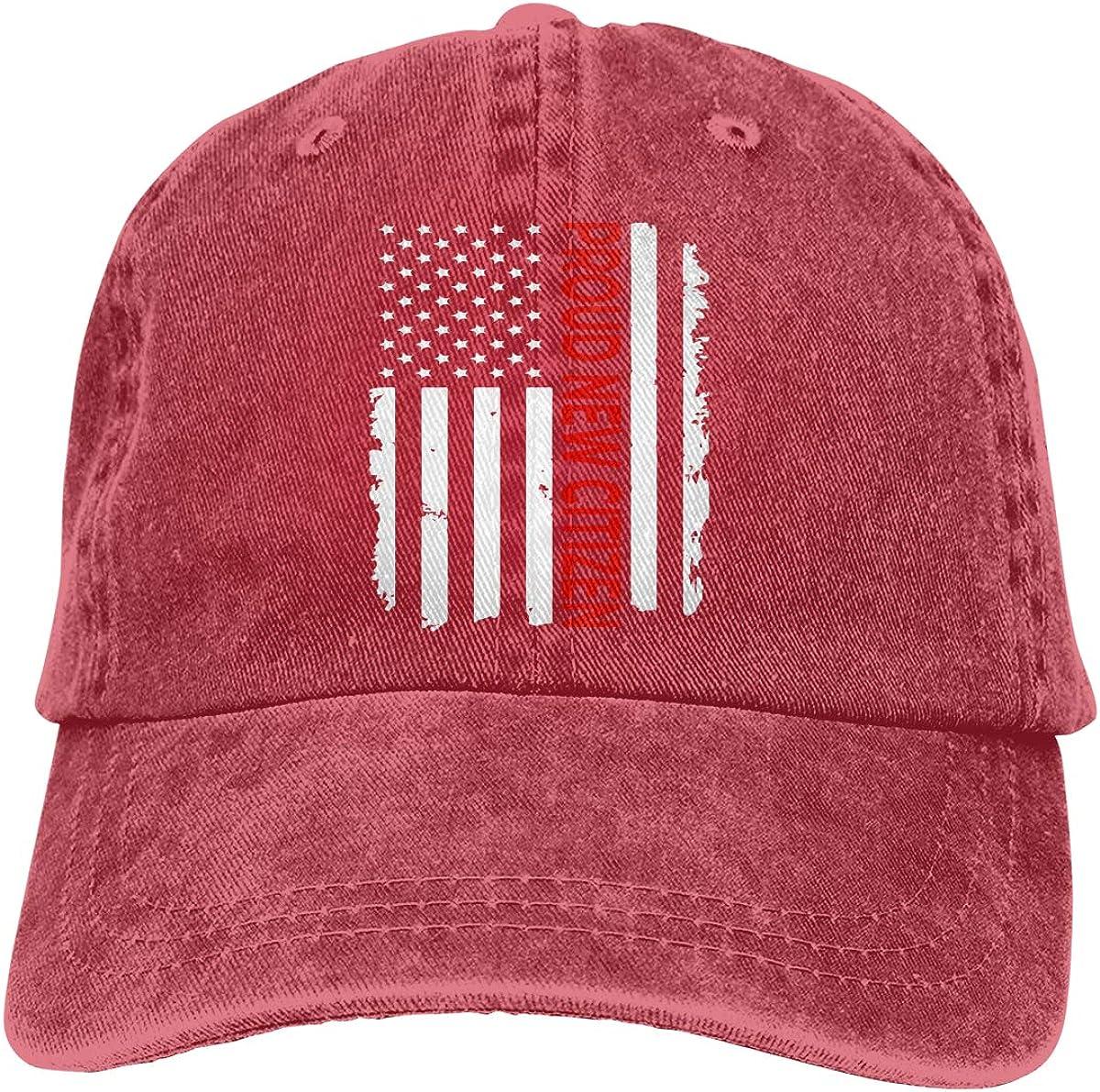 Adult Fashion Cotton Denim Baseball Cap Proud New American Citizen Classic Dad Hat Adjustable Plain Cap