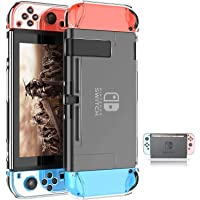 Dockable Switch Case for Nintendo Nintendo Switch Games Protective Hard Carrying Clear Cover Case for Nintendo Switch Console Joy Con Controller