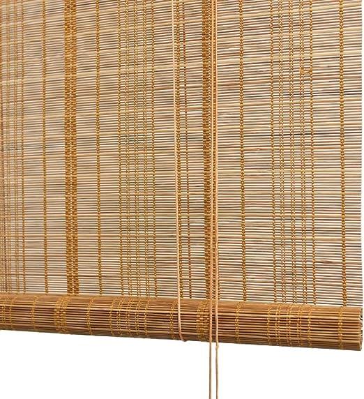 Persiana de bambú Sombra Exterior Enrollable con 80% De Protección ...