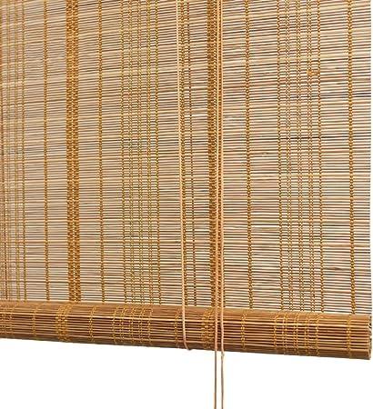 Persiana de bambú Sombra Exterior Enrollable con 80% De Protección UV, Persiana Exterior Enrollable para Patio Exterior Terraza De Garaje Porche Pérgola Balcón, 85cm / 105cm / 125cm / 145cm De Ancho: Amazon.es: Hogar