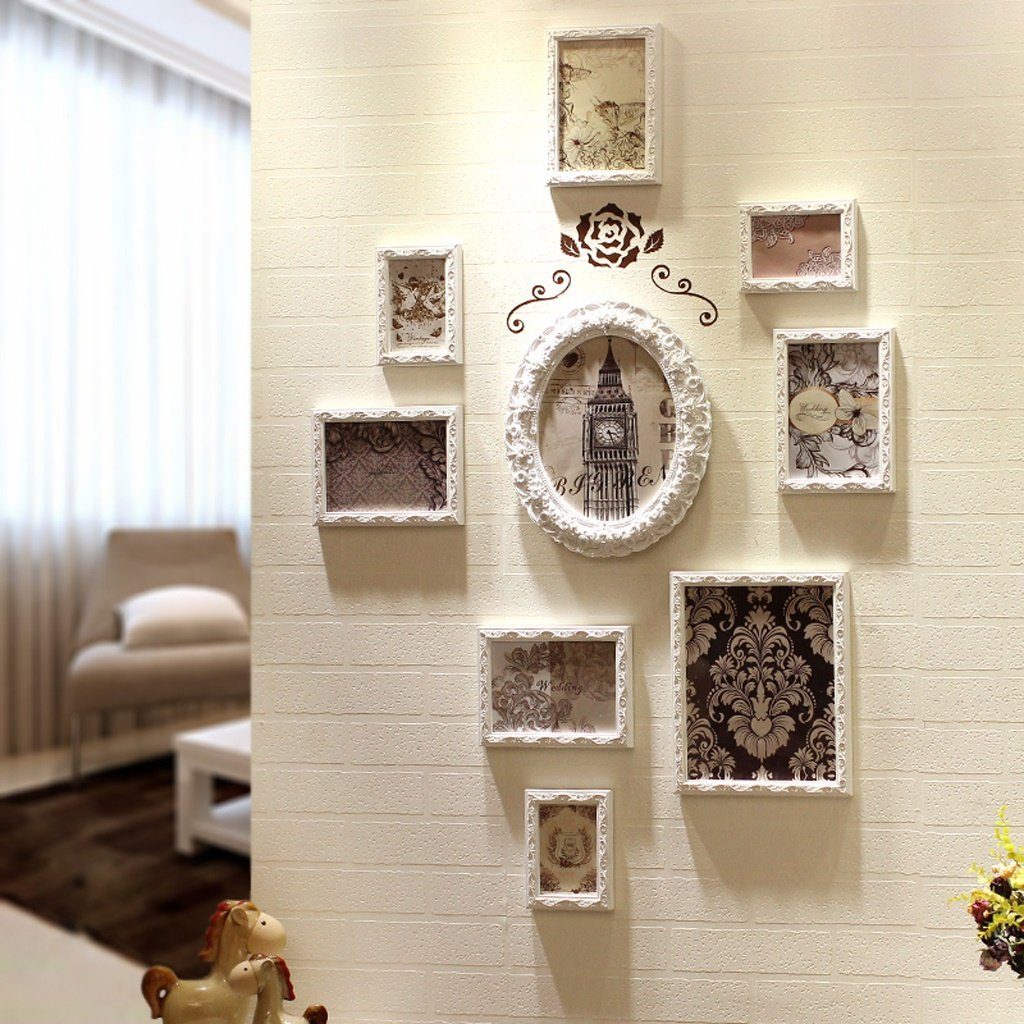 Zxwzzz Photo Wall Decorative Photo Frame Creative Wood Wall Background Picture Frame Wall Bedroom Door Decoration