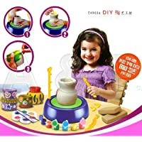 ElektraEducational Creative DIY Pottery Studio Artist Studio Easy Spin Pottery Wheel Ceramic Machine for Children Kids for Fun