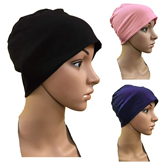 1471eea743024 3 PIECES OF COMBO MULTICOLOURS CANCER CAPS WOMEN SUMMER CHEMO CAPS SLEEP  TURBAN FOR WOMEN UNDERSCARF