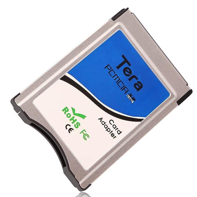 Tera - Adaptador y conversor de tarjetas SDHC y CF para el sistema de PCMCIA de Mercedes Benz de 2, 4, 8, 16 y 32 GB para teléfonos móviles, cámaras ...