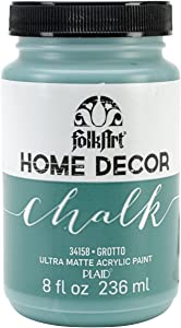 FolkArt Home Decor Chalk Furniture & Craft Paint in Assorted Colors, 8 ounce, Grotto