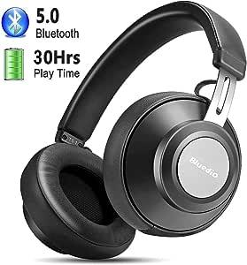2019 Versión] Auriculares Diadema Bluetooth 5.0, YINSAN Cascos Bluetooth Inalámbricos con Micrófono, 30hrs Reproducción de Música, Hi-Fi Sonido Estéreo para iPhone/iPad/Samsung/Huawei Móviles, TV, PC (Negro Oscuro): Amazon.es: Electrónica