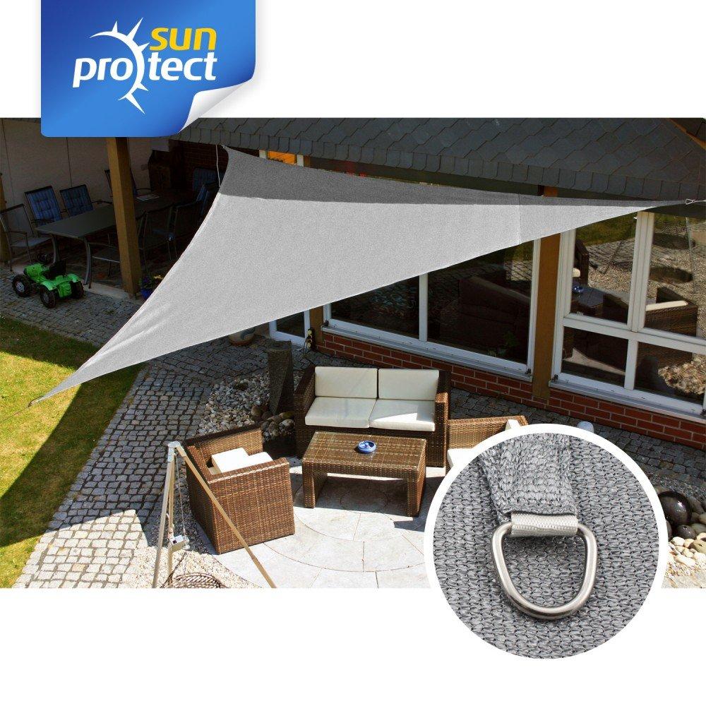 sunprotect 83291 Professional Tenda a Vela, 5 x 5 x 7 m, 90 gradi triangolo, grigio