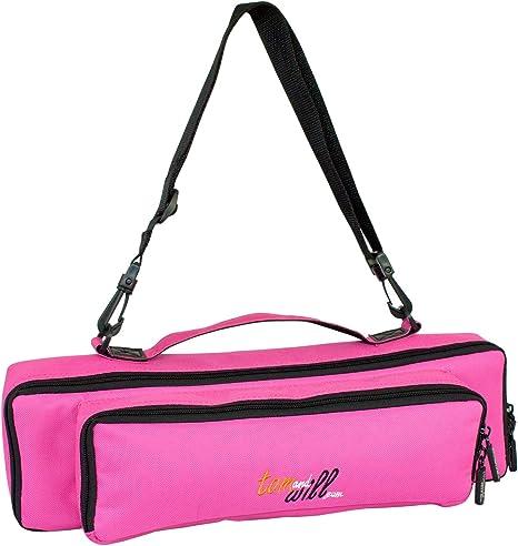 Tomandwill 33FPP-630 - Funda para flauta travesera y flautín, color rosa: Amazon.es: Instrumentos musicales