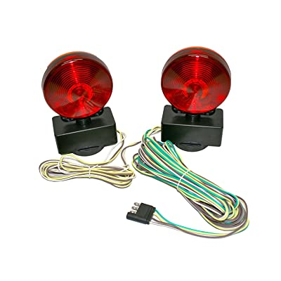 MaxxHaul 80778 Magnetic Towing Light Kit (Dual Sided for RV, Boat, Trailer and More DOT Approved), 1 Pack: Automotive
