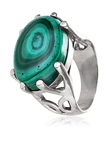 a2a22270ce3902 Buy Aarohee Contemporary Sterling Silver Turquoise Green Semi-Precious Single  Stone Ring for Women AAK169 Online at Low Prices in India | Amazon  Jewellery ...