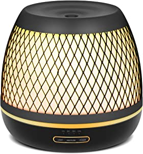 InnoGear 500ml Aromatherapy Essential Oil Diffuser with Iron Cover Ultrasonic Diffuser Classic Stlye Cool Mist for Home Bedroom Baby Room Yoga Spa