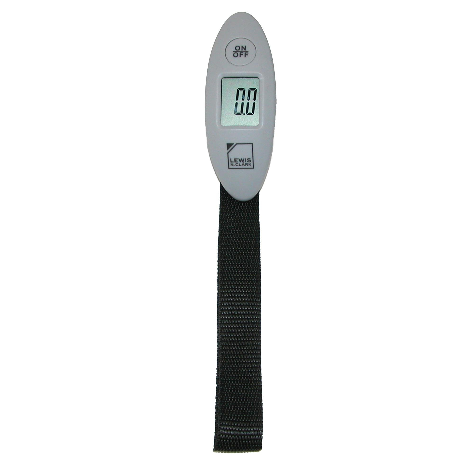 Lewis N. Clark Mini Digital Luggage Scale, Gray
