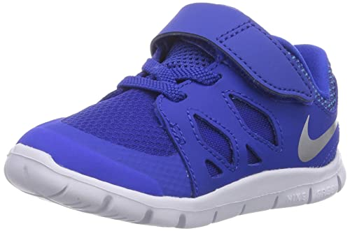 a7a9d9a7a Nike Free 5.0 (TDV) - Zapatos Primeros Pasos de Material sintético para niño  Azul Blau (Lyon Blue Metallic Silver-Blue Lagoon-Black) 17  Amazon.es   Zapatos ...