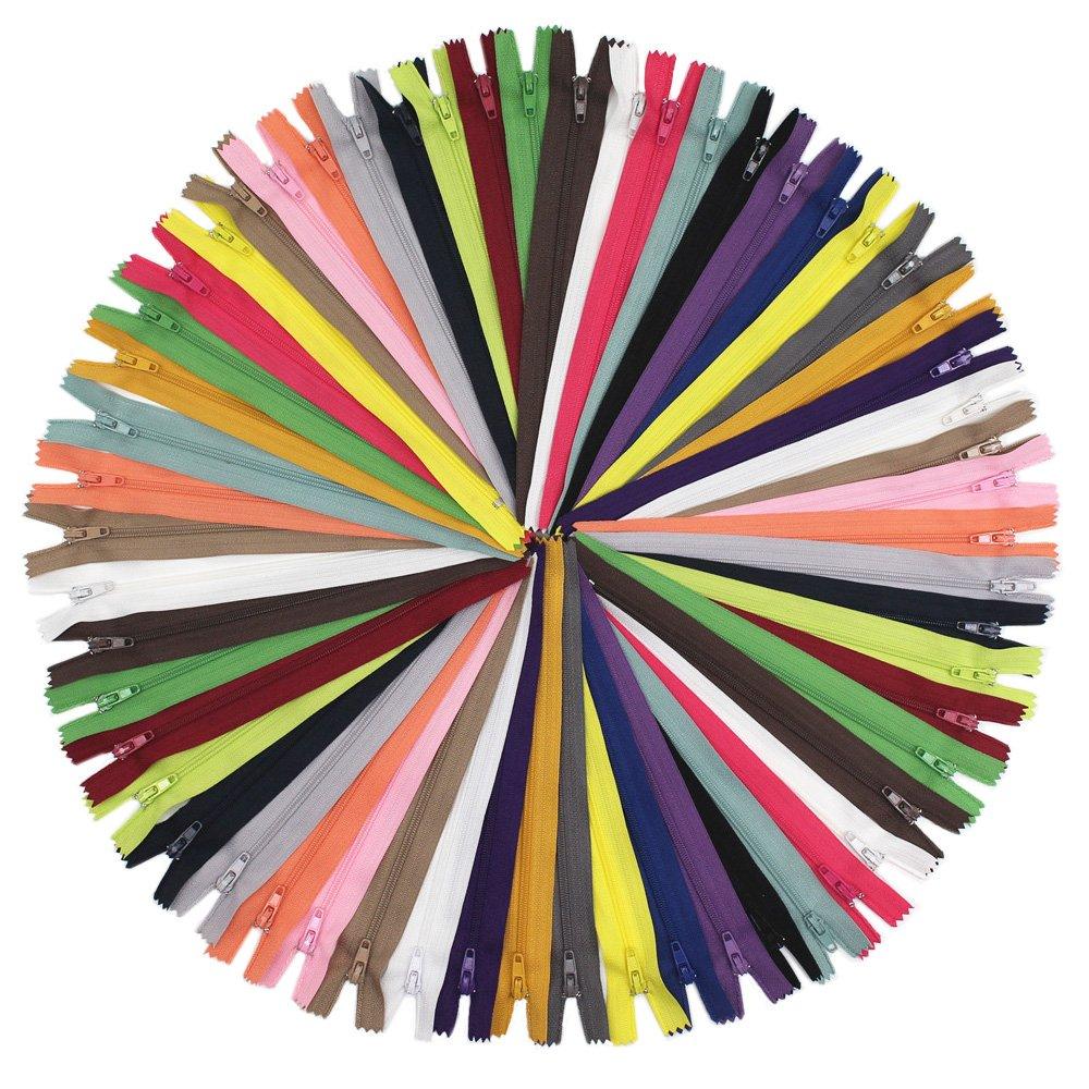14\ YaHoGa 80pcs 14 Inch (35cm) Nylon Coil Zippers for Sewing Crafts Tailor Nylon Zippers Bulk 20 colors (14  80pcs)