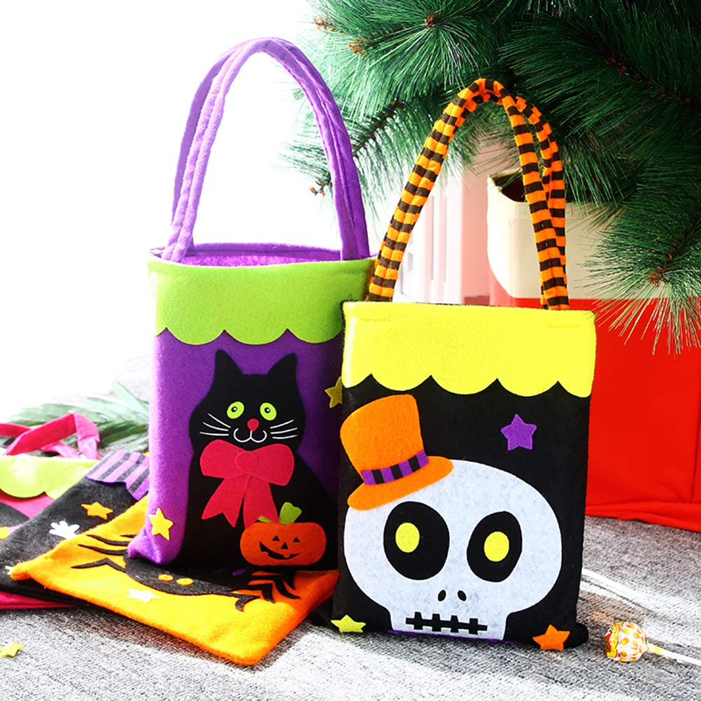 Ziitai 5 Pack Halloween Tote Bag Reusable Trick or Treat Bag Pumpkin Gift Candy Bags for Children Halloween Themed Party Ketyer U Testey