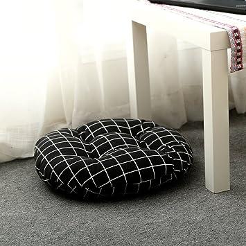 YOLI Almohadilla de Oficina Engrosada,Cojines de Tatami Cojín Redondo Respirable Asiento del Piso Cojín