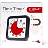 Time Timer Original Magnetic 60 Minute Visual Timer – Classroom or Meeting Countdown Clock for Kids and Adults, Charcoal, 1