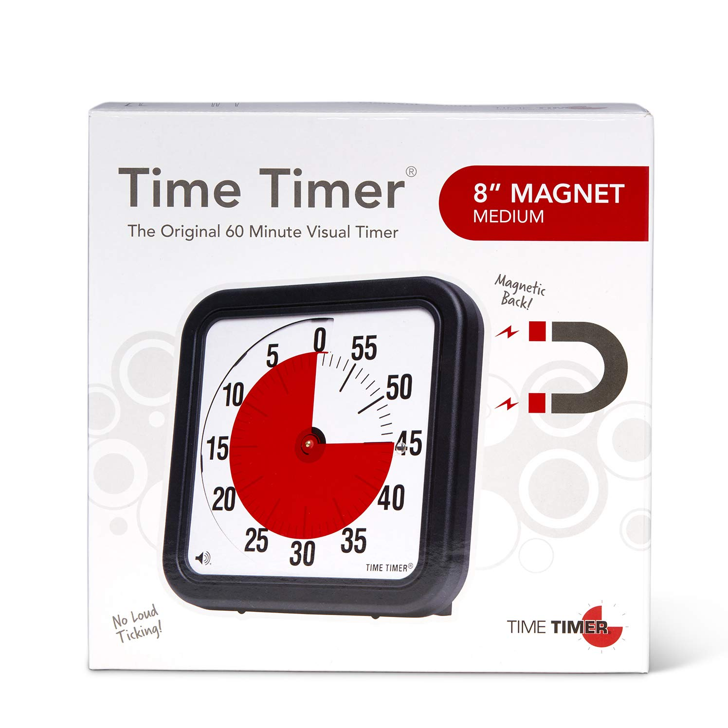 time timer original magnetic 8 inch 60 minute visual timer