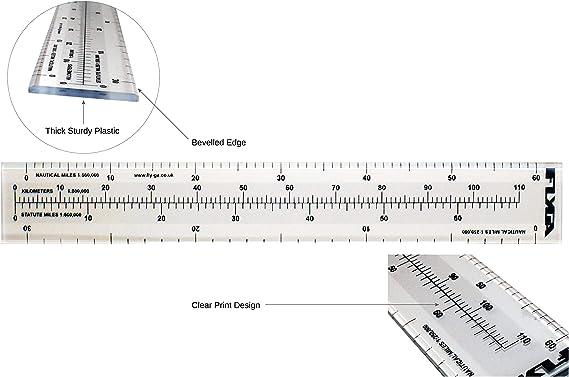 Regla de mapas de escala náutica (60 nm de distancia) – para ...