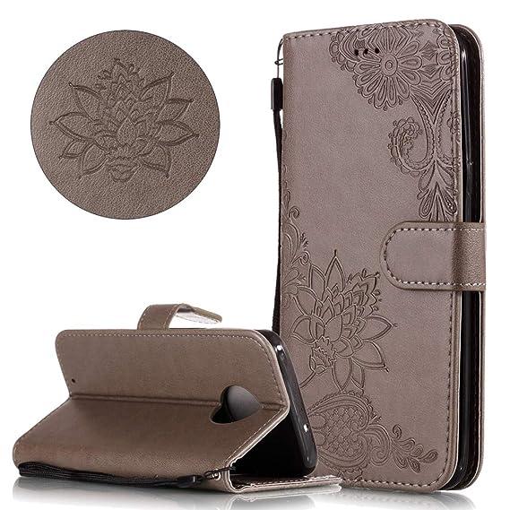 save off 30f60 12b8c Amazon.com: COTDINFORCA Moto G6 Wallet Case, Premium PU Leather ...